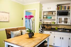 Eclectic Kitchen Eclectic Kitchen Design With Yellow Chairs And White Table