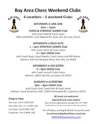Club Flyers Address Club Flyer Bay Area Chess
