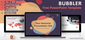 Modern Powerpoint Template Free Bubbler Modern Powerpoint Template