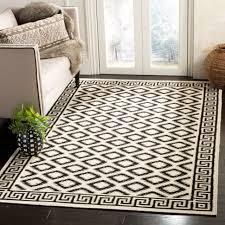 safavieh hand woven moroccan reversible dhurrie ivory black wool rug 9 x