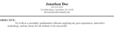 Objective For Teacher Resume Objective For Teaching Resume Resume Badak 24