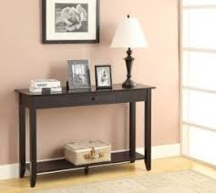 black hallway table. Convenience Concepts 8013081-BL American Heritage Hall Table With Drawer And Shelf, Black Hallway A