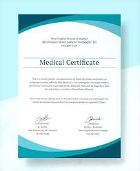 Sample Medical Certificates Free Sample Medical Certificate