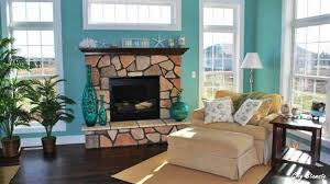 ... Turquoise Living Room Ideas Cream Soft Elegant Sofa Fireplace Dark  Luminated And Stylish Decorate Soft Colors ...