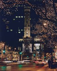Chicago Trolley Christmas Lights Chicago Architecture Wallpaper Water Tower Holiday Lights