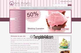 Cake Pink Css Website Template Download