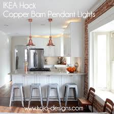Copper Kitchen Lights Copper Barn Light Ikea Hack
