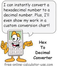 Hex To Decimal Conversion Chart Hex To Decimal Converter To Convert Base 16 To Base 10