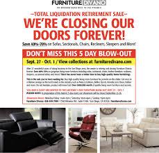 Total Liquidation Retirement Sale Furniture Divano San Diego CA