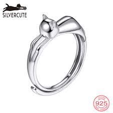 SILVERCUTE милая собака открытый палец <b>кольцо</b> для женщин ...