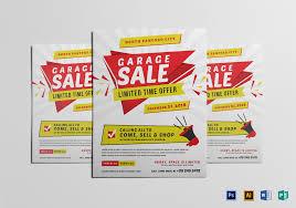 Modern Yard Sale Flyer Design Template In Word Psd Publisher