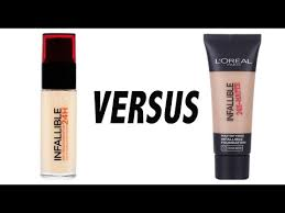 l oréal infallible foundations 24hr matte vs 24hr stay fresh first impressions parison