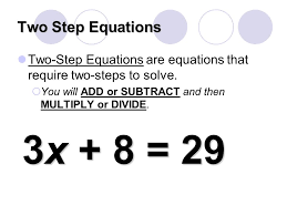 two step equations two step equations are equations that require two steps to solve