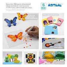 9 Bags Artkal Fuse Beads Portrait Creation Set 1000pcs Bag Perler Hama Beads Diy Pixel Art Sb1000 Gray
