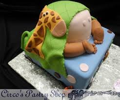 Sweet Baby Shower Cake With Baby Cowboy Boots Horseshoes And Baby Shower Safari Cakes