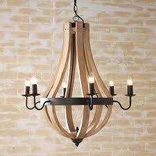 fascinating wood and iron chandelier rustic wood iron chandelier best wine barrel chandelier ideas on rustic wood ideas 7 white wood beads and iron basket