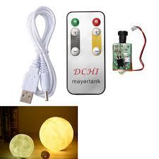 Micromake 3d Moon Light Touch Circuit Board Dettagli Su Circuit Board Usb Remote Control White Yellow For 3d Printing Moon Light Te782