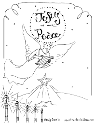 Small Picture Coloring Pages Christmas Angel Coloring Page Free Printable