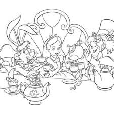 Small Picture Talking Flowers Alice In Wonderland Coloring Pages Coloring