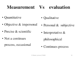 Lecture Evaluation Form Simple What Is The Difference Between Measurement And Evaluation