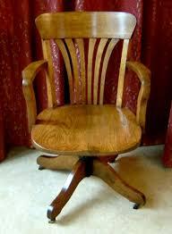 antique oak swivel desk chair antique oak office chair