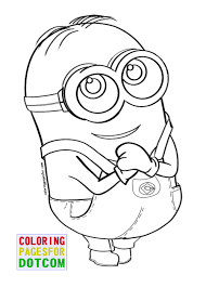 Small Picture Minion Kevin Coloring Page Within Color Pages esonme