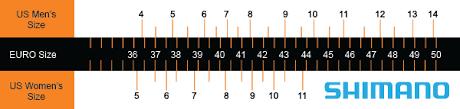 Shimano Shoe Size Chart Free Download Shimano Shoe Size Chart Hd Walls Find