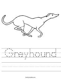 Small Picture Greyhound Worksheet Twisty Noodle