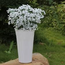 artificial plastic gypsophila baby s breath flower plants home wedding decor