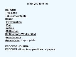 Project Table Of Content Format Ericremboldt Com