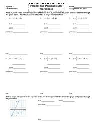beautiful parallel and perpendicualr practice two point slope worksheet 006732831 1 48ac2b67681ef1db74a7cc3eca3 point slope worksheet worksheet