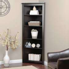corner shelves furniture. Corner Bookshelf Cherry For Small Houses Home Bookcase With Glass Doors Shelves Furniture S