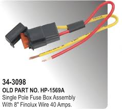 fuse box single pole fuse box assembly 8 finolux wire 40 amp fuse box single pole fuse box assembly 8 finolux wire 40 amp hp 34 3098 for parts big boss