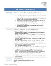 esthetician resume template