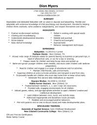babysitter resume skills best examples images on sample is going