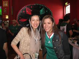 mexican restaurant people. Fine Mexican Team Mexico Fans Dress Up In Mexican Attire To Watch The Soccer Match  Against Japan At In Restaurant People T