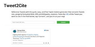 Academic Citations For Tweets Tweet2citecom In Mla And Apa