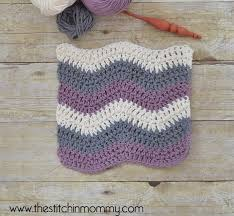 Crochet Ripple Pattern Inspiration Crochet Ripple Stitch Tutorial And Dishcloth Pattern The Stitchin