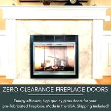 fireplace clean out door keeping glass doors cleaning removing for