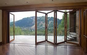 folding glass patio doors.  Glass Folding Glass Doors With Wooden Floor Throughout Folding Glass Patio Doors F