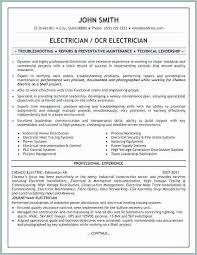 Electrician Resume Example Cool 48 Elegant Apprentice Electrician Resume Bizmancan
