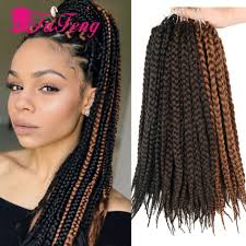 Box Braids Hair Style crochet box braids black hair extensions synthetic curly crochet 1870 by wearticles.com