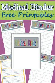 Free Printable Binder Templates Medical Binder Template Magdalene Project Org