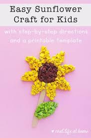 Free Craft Printables Templates Easy And Inexpensive Paper Sunflower Craft For Kids With