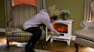 duraflame infrared stove heater with remote control on qvc