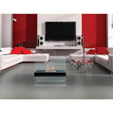 anywhere fireplace madison 28 in vent free ethanol fireplace in black tempered glass