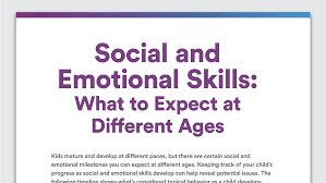 social and emotional development skills to expect at different ages