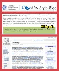 Learn How To Cite Wikipedia Using The Apa Style Blog Research At Kvcc