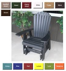 LuxCraft Poly 2ft Adirondack Style Glider Chair Swingsets Outdoor Glider Furniture