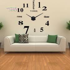 Mirror Wall Decor For Living Room Aliexpresscom Buy Europe Simple Ideas New Quartz Huge Wall